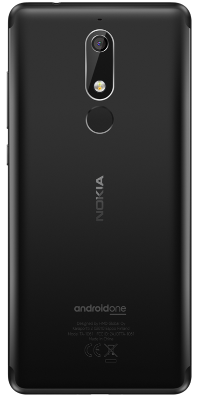 nokia 5 1 back black 400x800